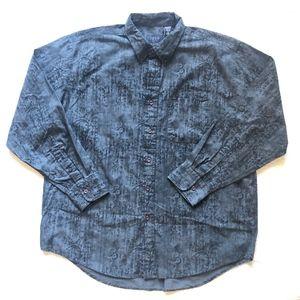 Izod Jeans 100% Cotton Button Down Shirt
